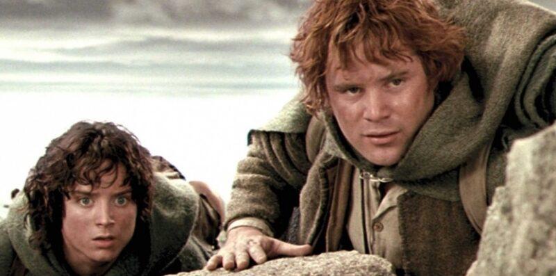 Samvise Gamgee Sean Astin e Frodo Baggins Elijah Wood