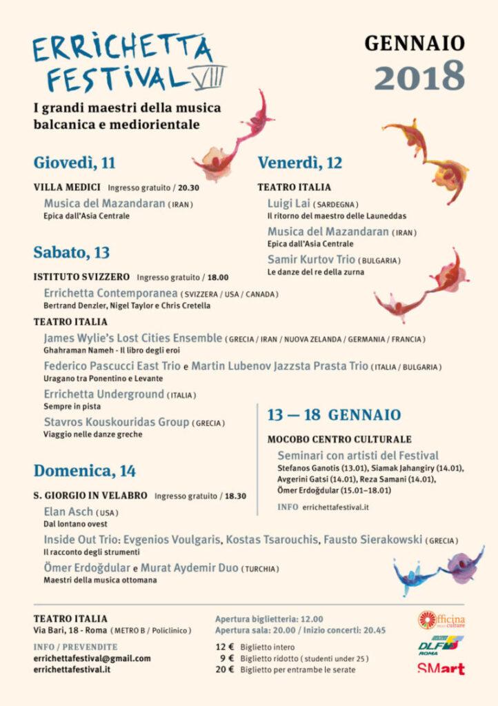 Errichetta Festival locandina evento