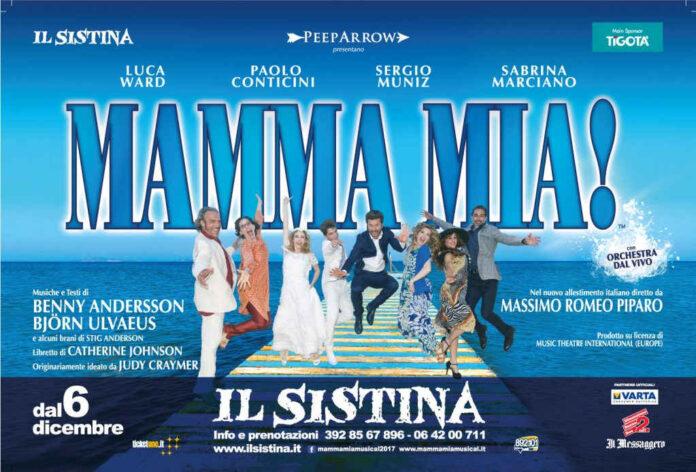 Mamma mia! - banner Sistina