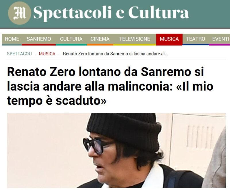 Renato Zero - Il Messaggero