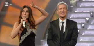 Sanremo 2018 - Claudio Baglioni e Virginia Raffaele