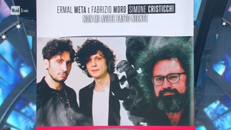 Sanremo 2018 - Ermal Meta e Fabrizio Moro in fascia blu