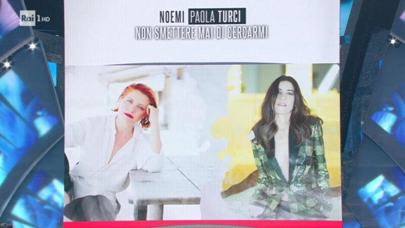 Sanremo 2018 - Noemi in fascia rossa