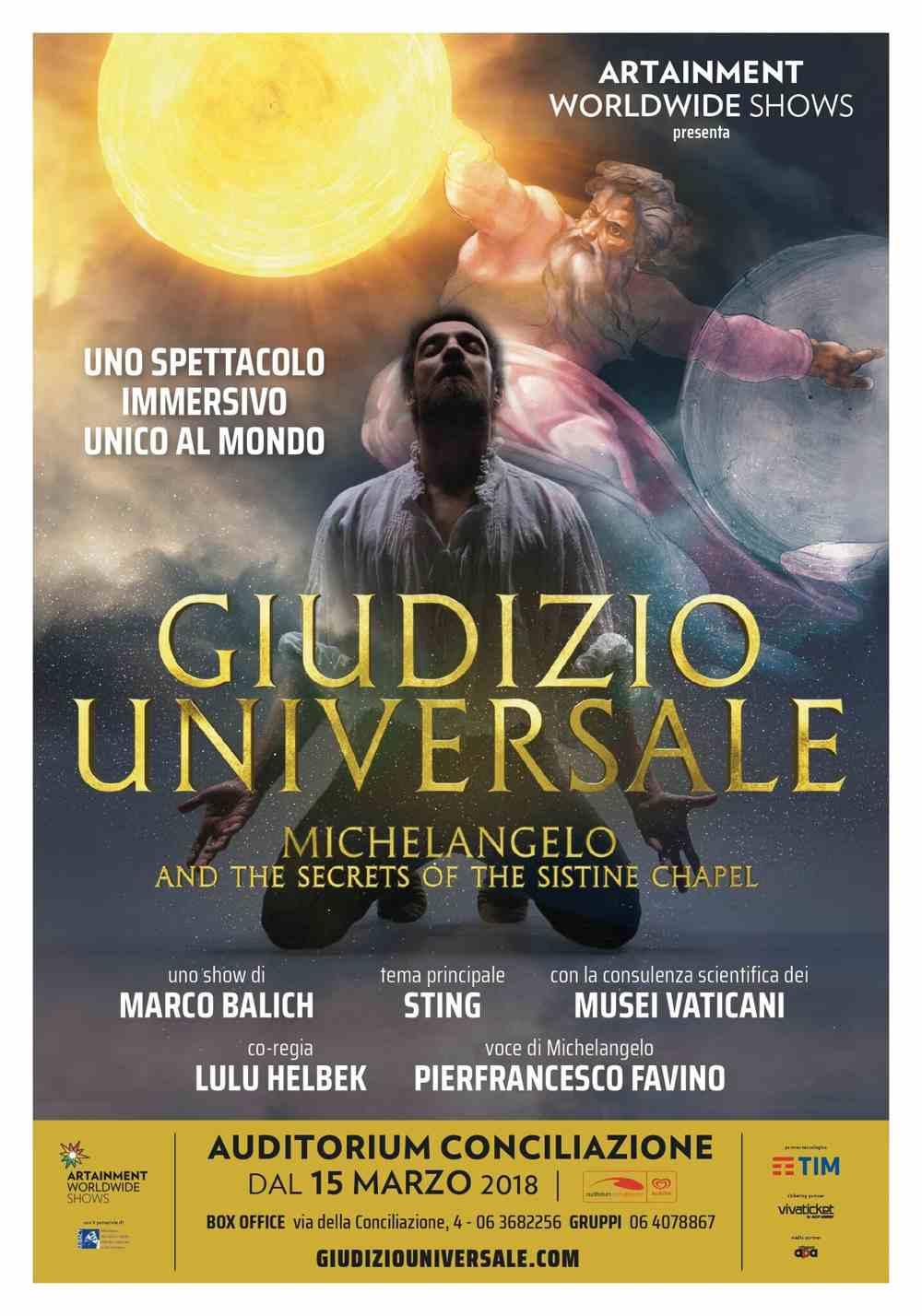 Poster Giudizio Universale. Michelangelo and the Secrets of the Sistine Chapel