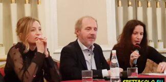 Alba Rohrwacher e Arnaud Desplechin presentano I fantasmi d'Ismael (foto Ivan Zingariello)