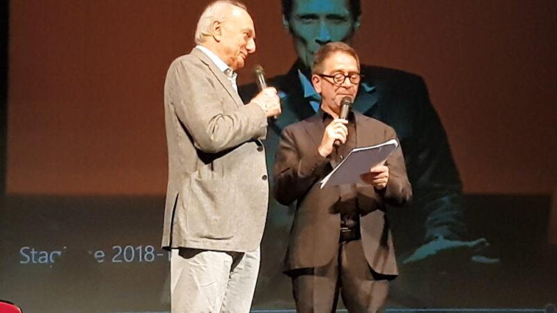 Giorgio Barattolo e Pino Strabioli - Presentazione Stagione 2018-19 Teatro della Cometa (foto Ivan Zingariello)