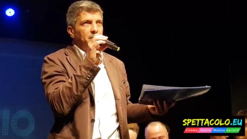 Alessandro Longobardi durante la presentazione del Teatro Brancaccio 2018-19