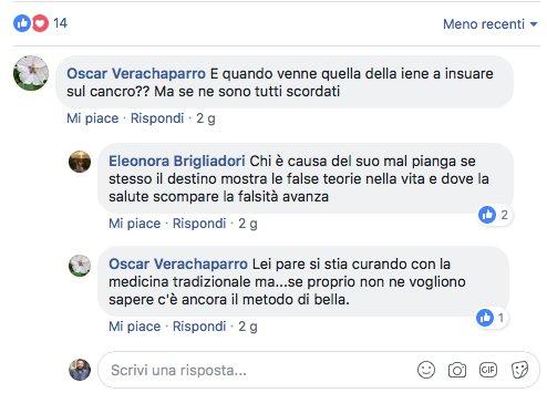 Eleonora Brigliadori commento Nadia Toffa