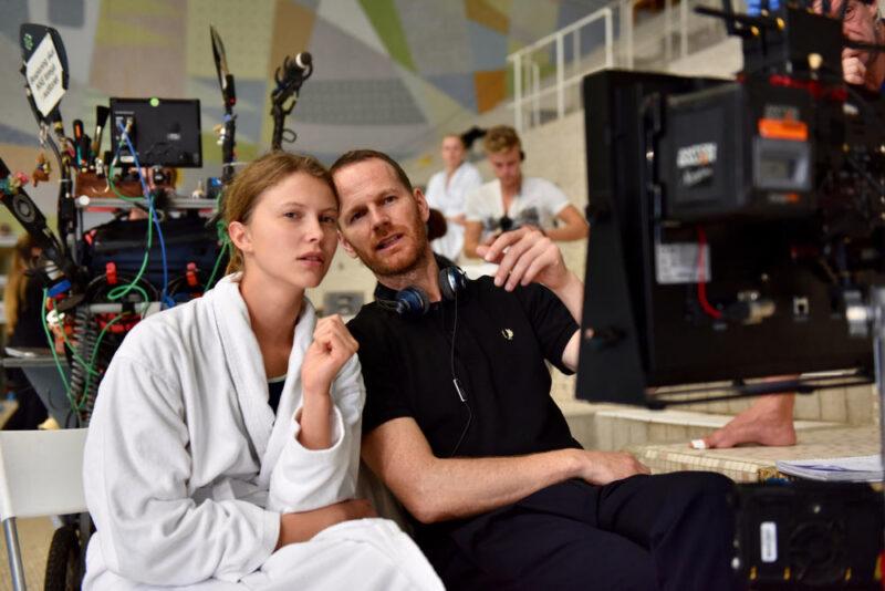 Joachim Trier e Eili Harboe sul set di Thelma
