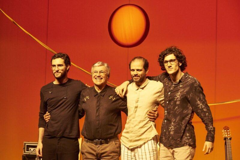 Caetano Veloso con i figli