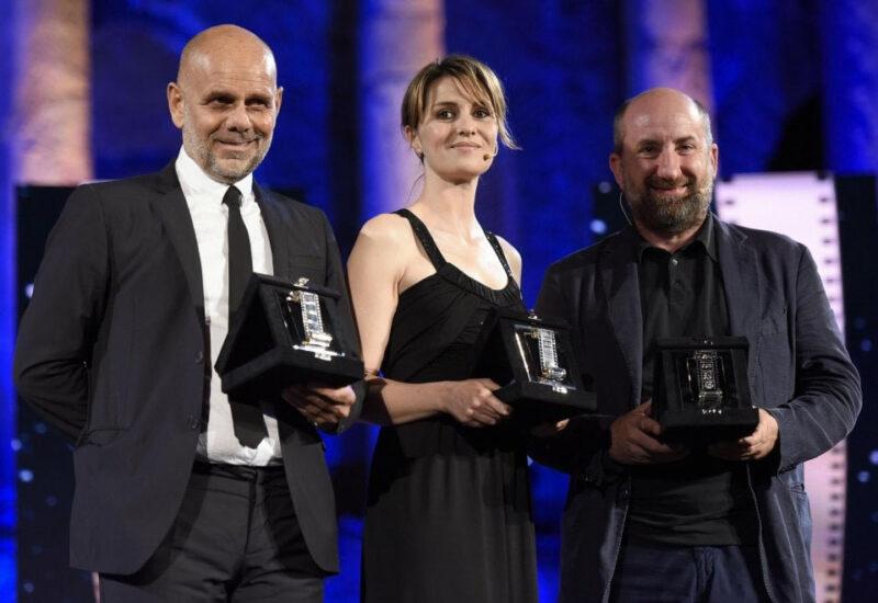 Nastri d'Argento 2018 - Come un gatto in tangenziale - Riccardo Milani, Paola Cortellesi, Antonio Albanese (ansa)
