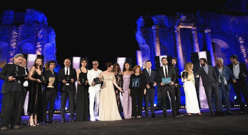 Nastri d'Argento 2018 - Foto di gruppo dei premiati (ansa)