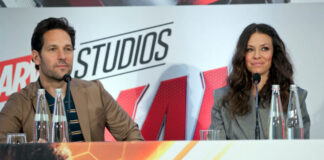 Paul Rudd ed Evangeline Lilly - conferenza stampa Ant-Man and The Wasp 1