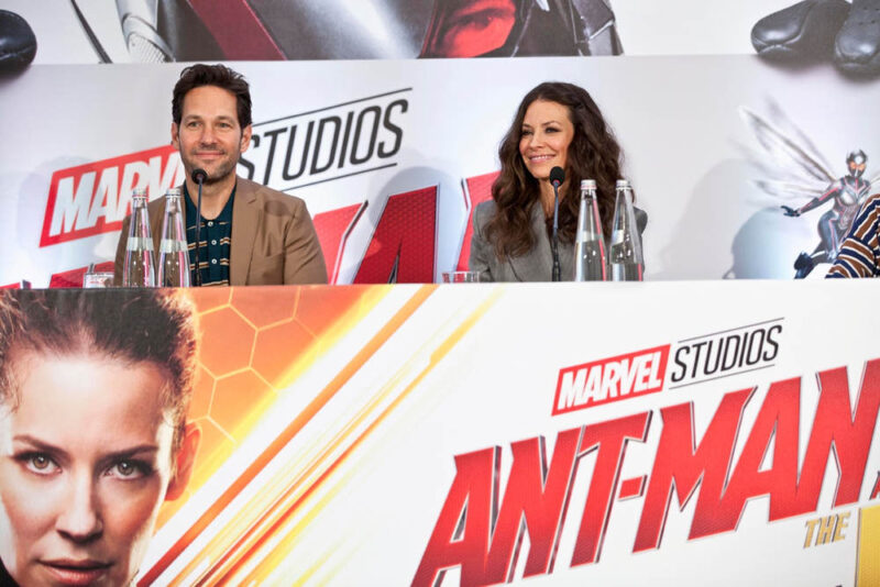 Paul Rudd ed Evangeline Lilly - conferenza stampa Ant-Man and The Wasp 2