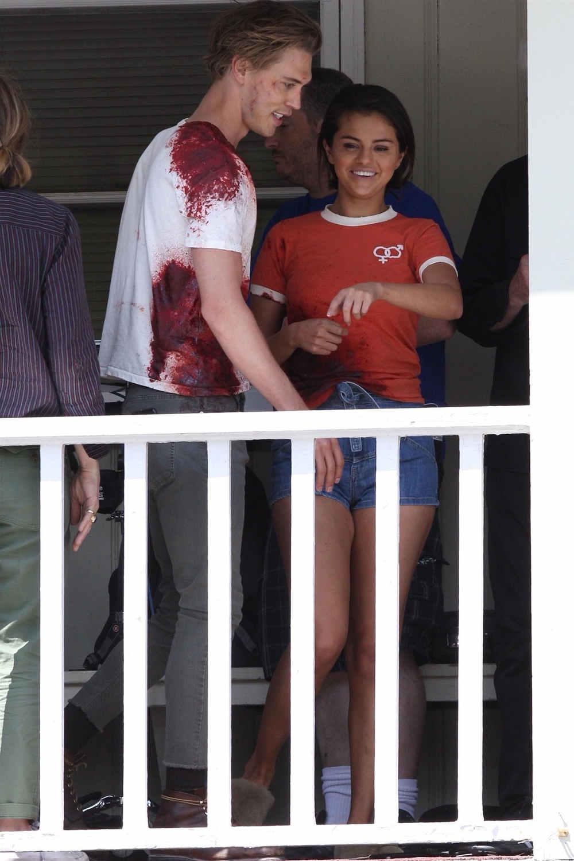 Selena Gomez e Austin Butler sul set di The Dead Don't Die