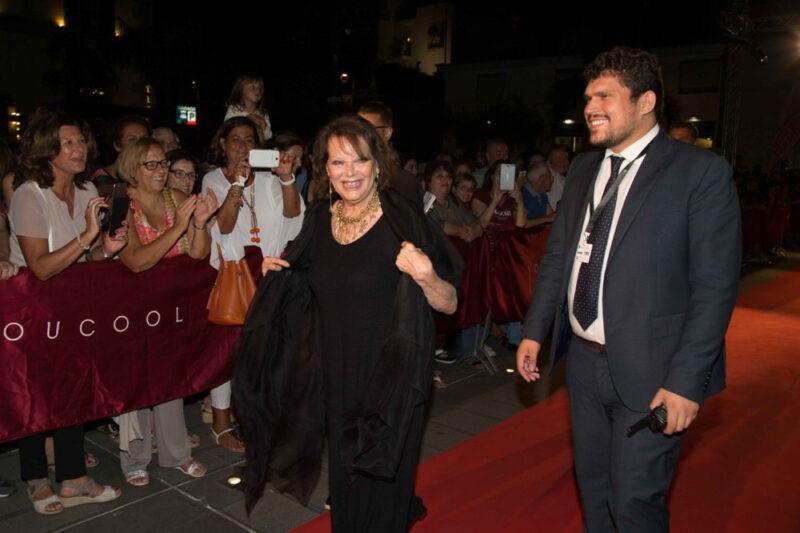 Social World Film Festival - Claudia Cardinale sul red carpet con Giuseppe Alessio Nuzzo