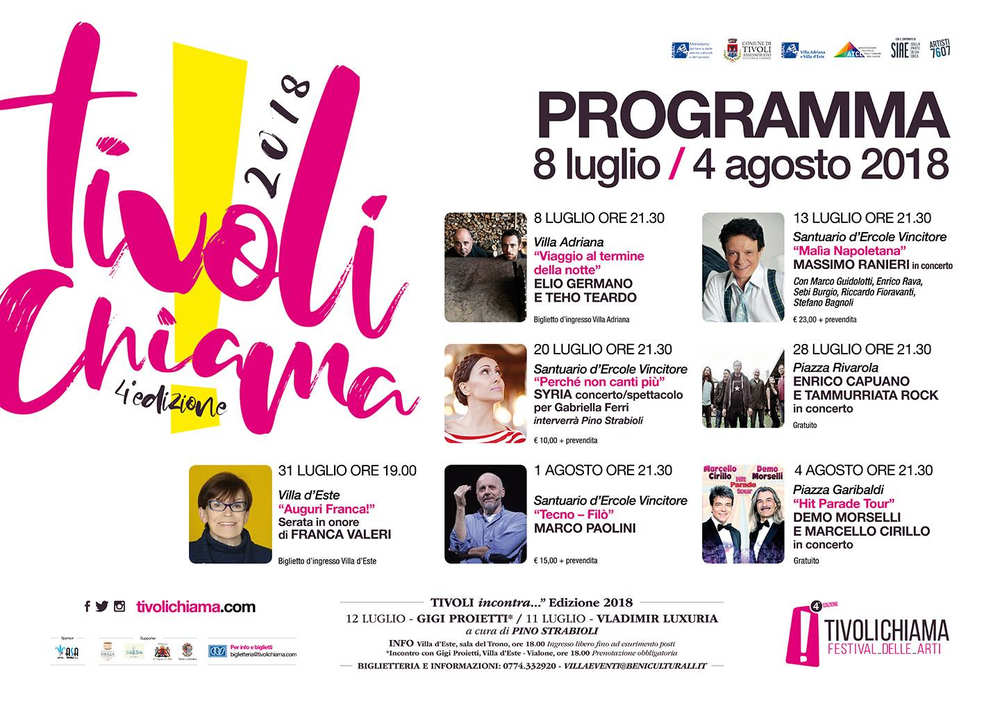 Tivoli Chiama! 2018 - programma