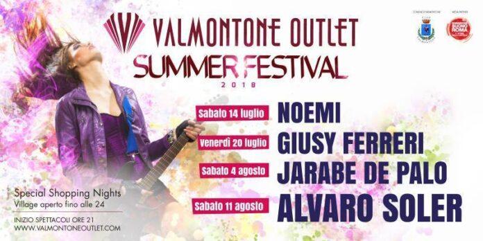 Valmontone Outlet Summer Festival Locandina