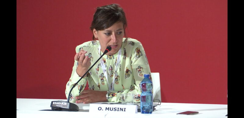 Venezia 75 - Olivia Musini - conferenza stampa Sulla mia pelle