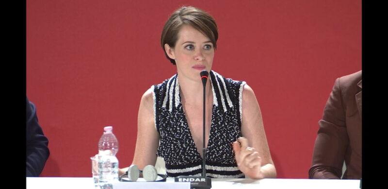Venezia 75 - Claire Foy - conferenza stampa Il primo uomo
