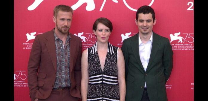 Venezia 75 - Ryan Gosling, Claire Foy, Damien Chazelle - conferenza stampa Il primo uomo