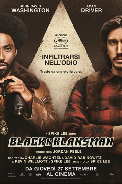 Blackkklansman locandina