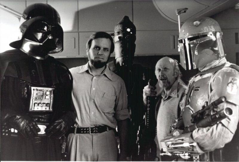 Gary Kurtz sul set di Star Wars