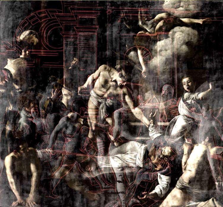 Martirio San Matteo Cappella Contarelli - mostra multimediale caravaggio