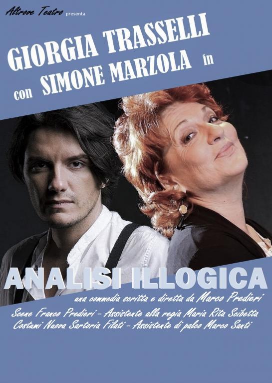 Analisi illogica - locandina con Giorgia Trasselli e Simone Marzola