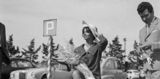Arrivo dell'attrice cubana Chelo Alonso allaeroporto di Ciampino 1959