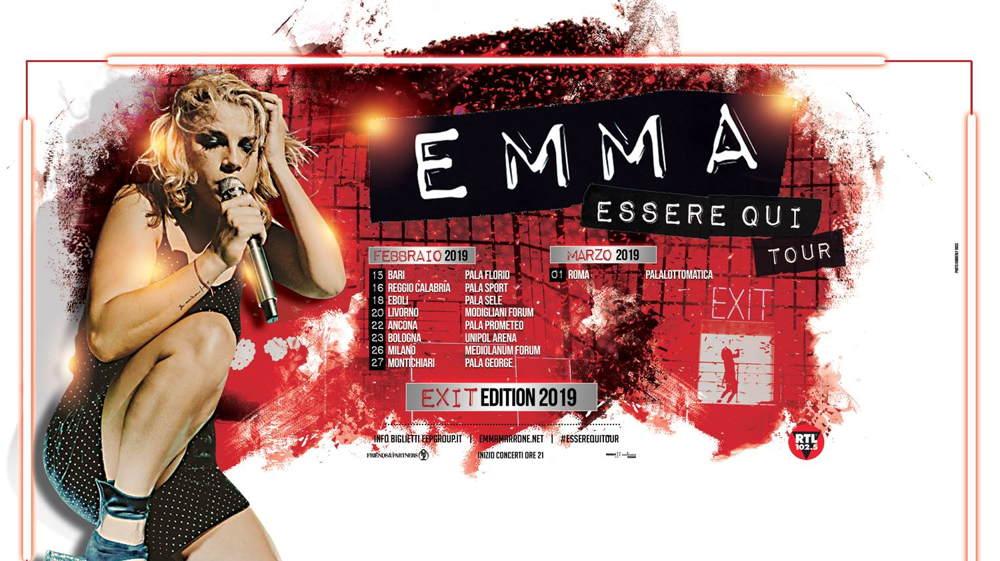 Emma Essere Qui Exit tour 2019