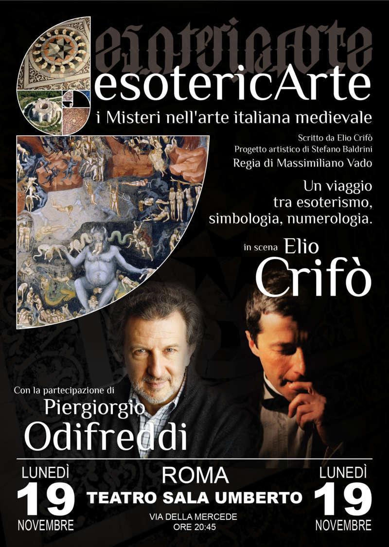 EsotericArte - locandina con Piergiorgio Odifreddi e Elio Crifò
