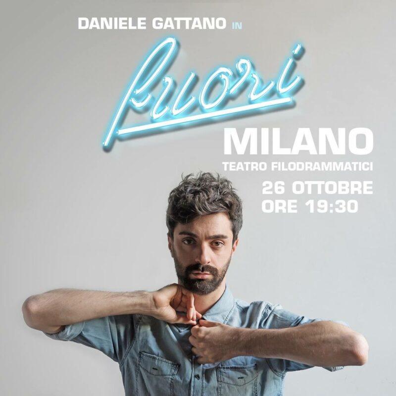 Fuori! Daniele Gattano - locandina