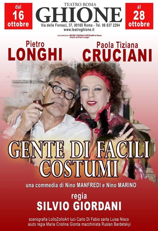 Gente di facili costumi - locandina con Pietro Longhi e Paola Tiziana Cruciani