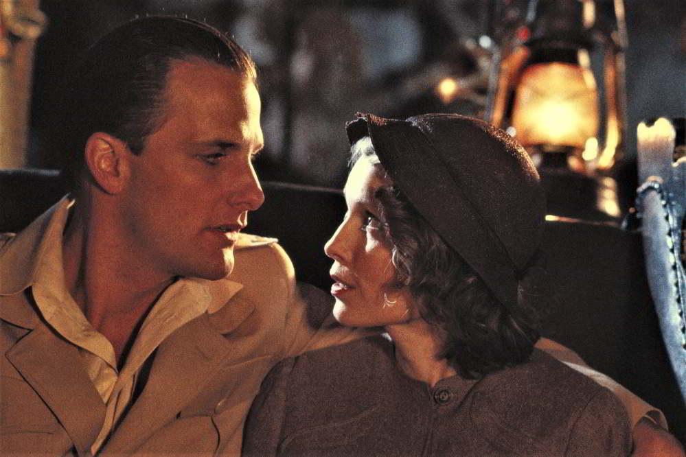 La rosa purpurea del Cairo- Jeff Daniels e Mia Farrow in una scena