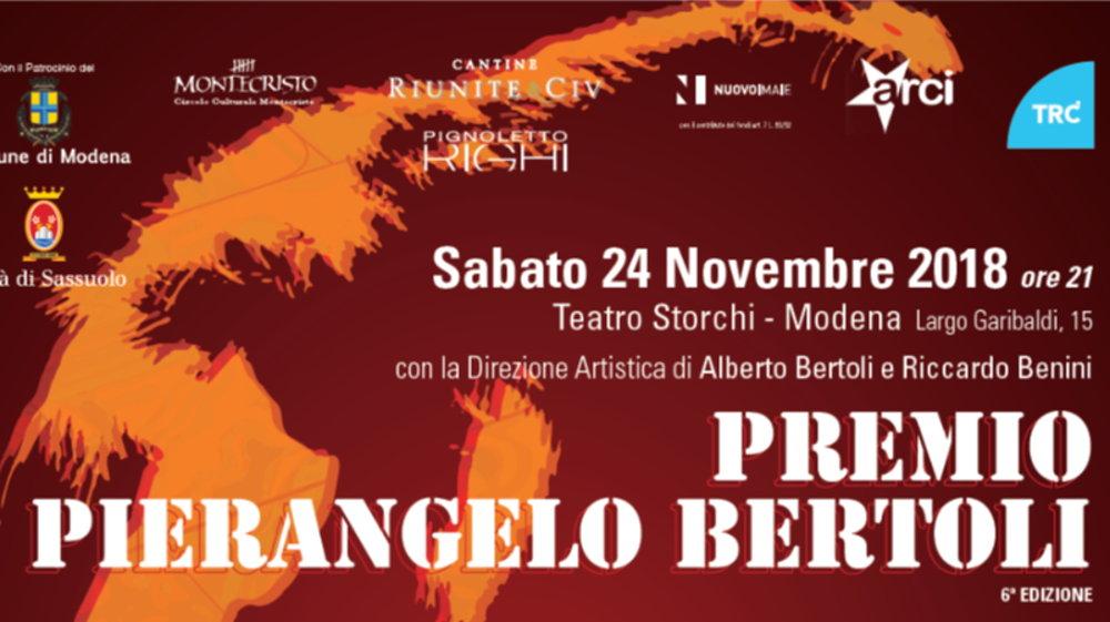 Bertoli Porta Tv.Premio Pierangelo Bertoli Gli Artisti Premiati E Gli 8