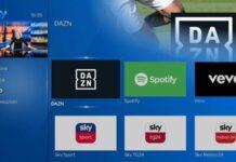 Sky Q - app DAZN e Spotify