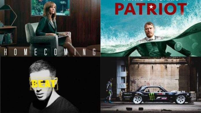 Amazon Prime Video - locandina Homecoming, Patriot, Beat, The Gymkhana Files