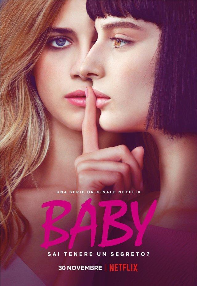 Baby - locandina Netflix con Benedetta Porcaroli e Alice Pagani