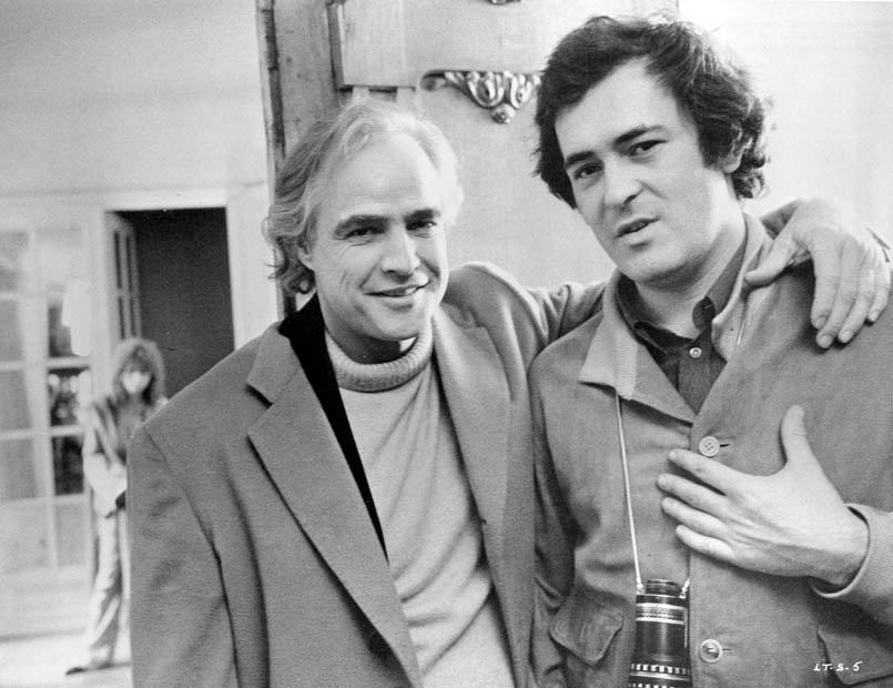 Bernardo Bertolucci e Marlon Brando