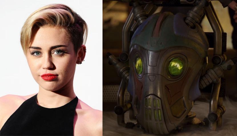 Miley Cyrus ha prestato la voce a Mainframe, personaggio robotico de I guardiani della galassia vol. 2