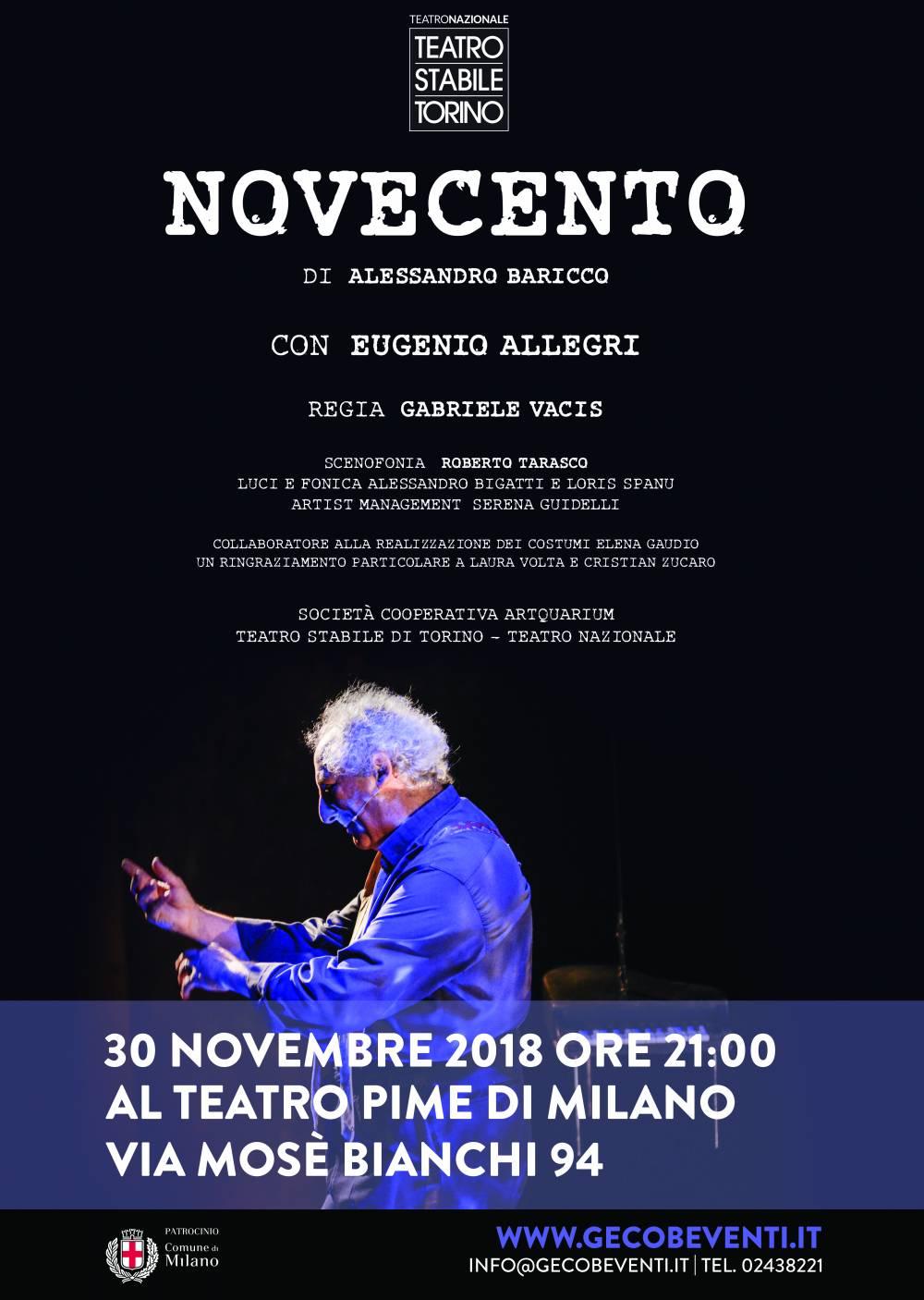Novecento - locandina