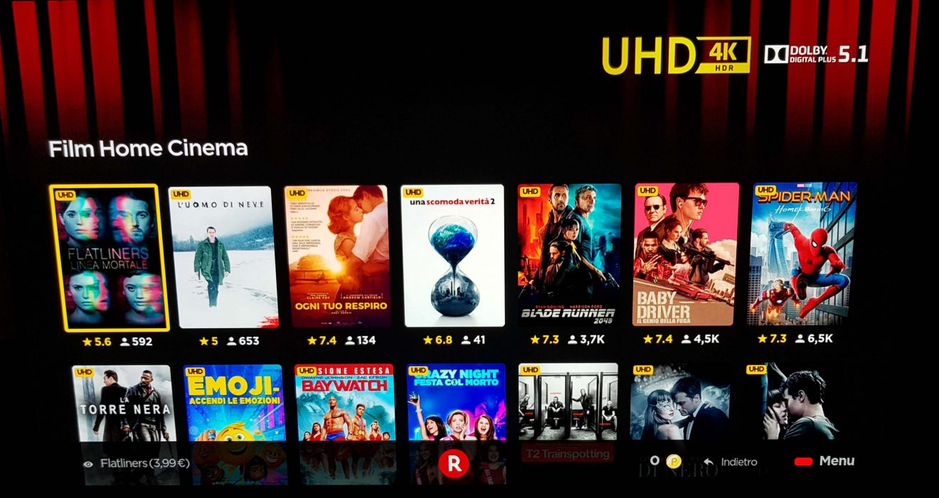 Rakuten TV - oltre 100 film disponibili in streaming 4K