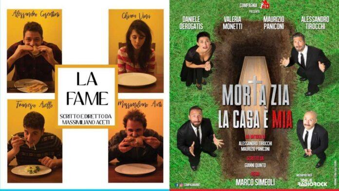 Teatro de' Servi locandine - La Fame e Morta la zia, la casa è mia