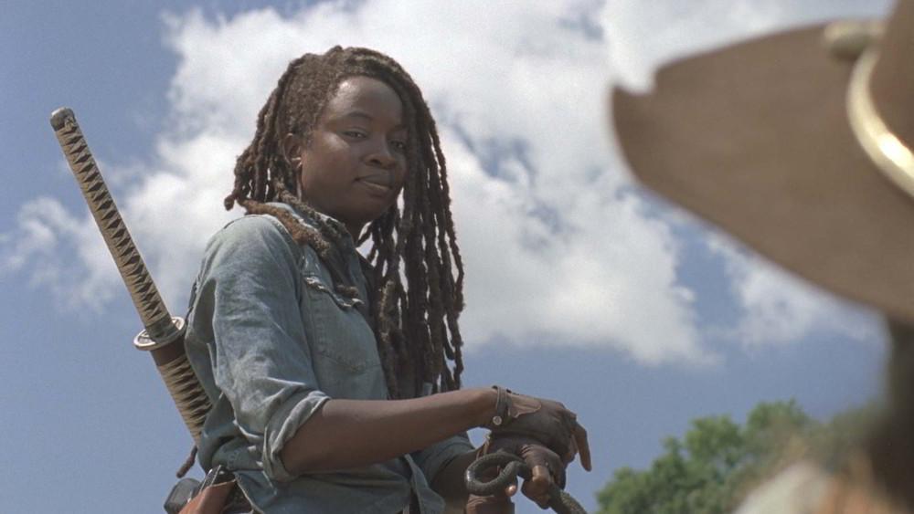 """The Walking Dead 9 - Danai Gurira nei panni di una nuova Michonne nell'episodio """"Chi sei adesso?"""""""