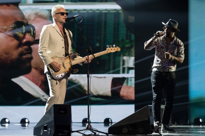 X Factor 12 - second live - Sting and Shaggy