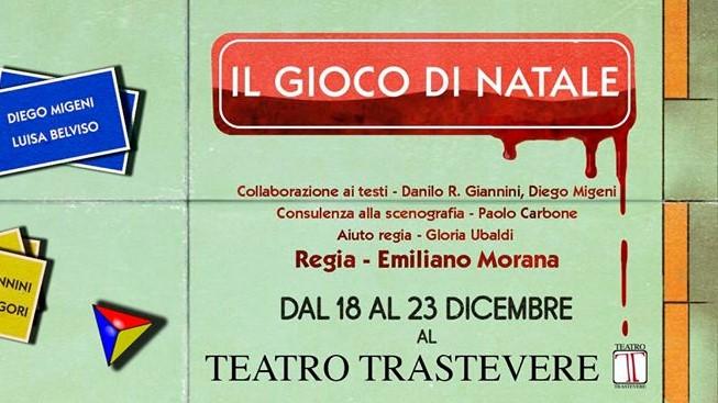 Il gioco di Natale - locandina Teatro Trastevere