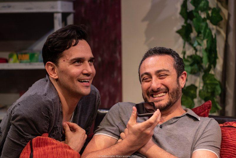Marco Stabile ed il regista Claudio Insegno in Una serata con Will & Grace