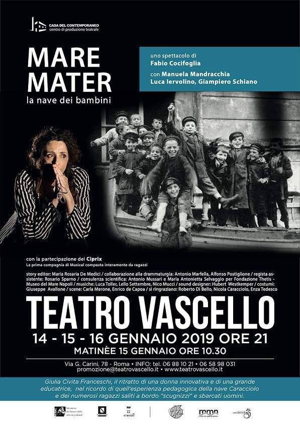 Mare Mater - locandina Teatro Vascello