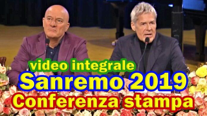 Sanremo 2019 - conferenza stampa integrale